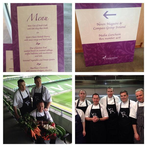 We had a great day at the Aviva and I can't wait to get cooking there for the Autumn Rugby Internationals