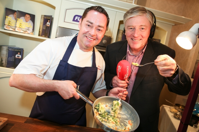 Pat Kenny and his Newstalk team popped in for some lunch..... Pic Credit Donnie Phair