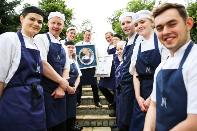 Here I am pictured with some of my team of chefs here at MacNean