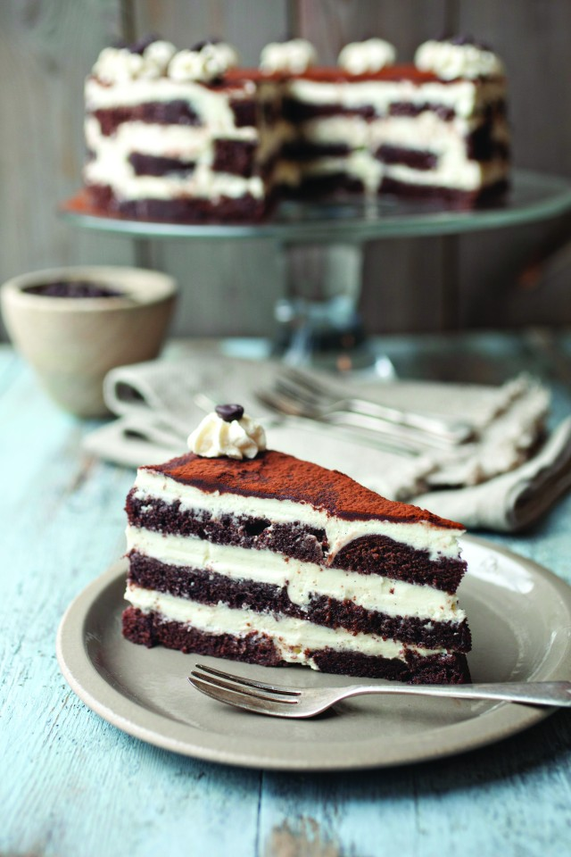 Cappuccino Cream Chocolate Cake