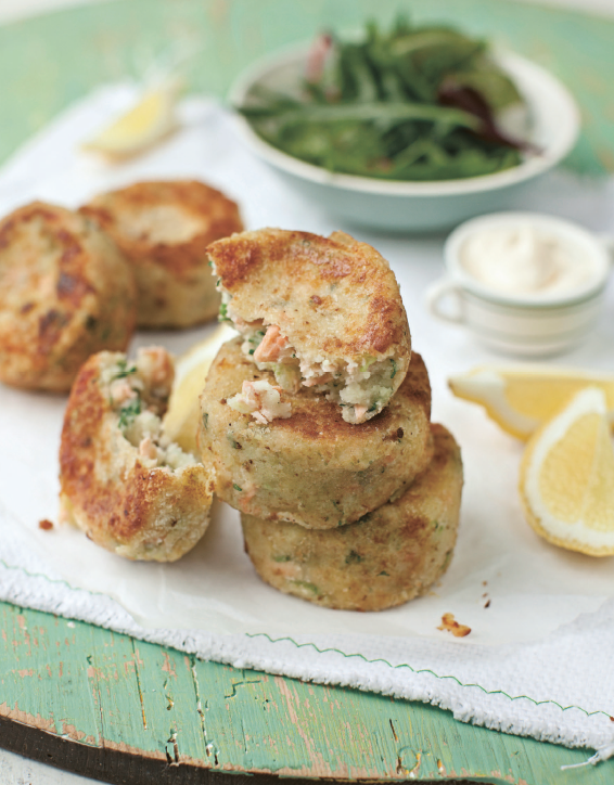 KIDS LOVE THEM... Salmon fishcakes are a real hit