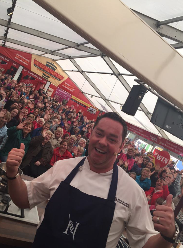 GREAT CROWDS... As always the crowd interaction and involvement was great at my cookery demos