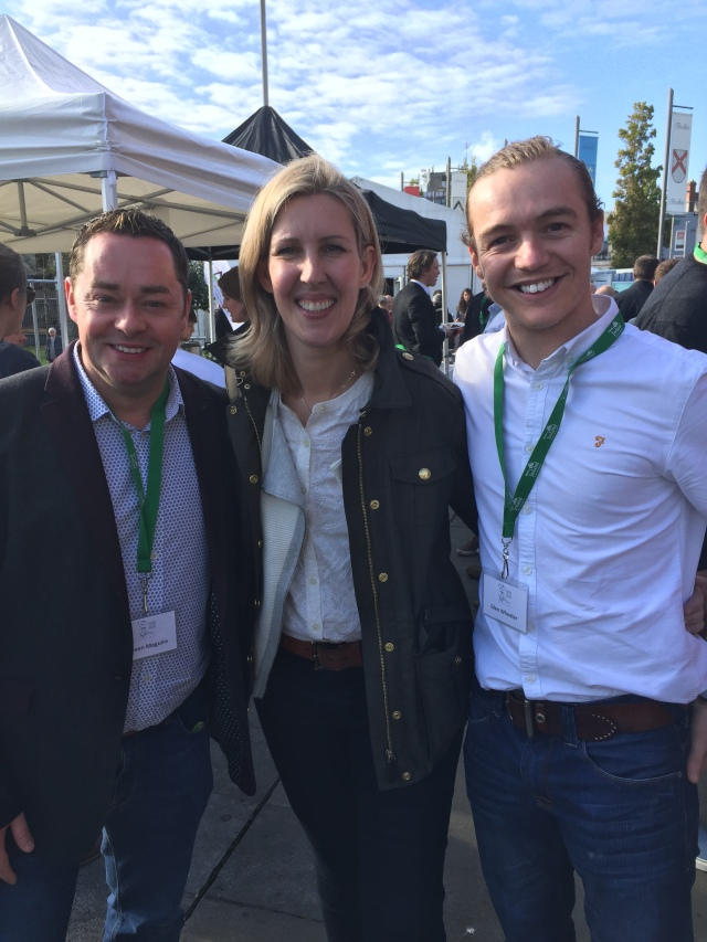 MACNEAN SANDWICH... Clare Smyth with myself and Glen Wheeler, head chef at MacNean House and Restaurant