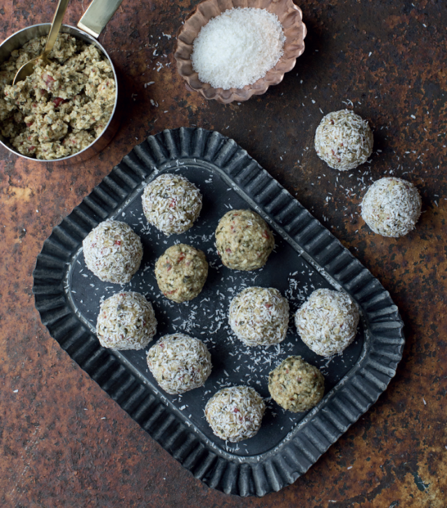 NUTTY NIBBLES... Try these healthy bites and I promise you will love them.