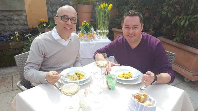 (41)Neven's Italian Food Trails. Programme two. Neven with pasta maker Enrico Bolla